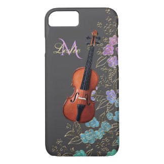 Monogram Floral Violin Music iPhone 7 Case
