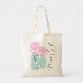 MONOGRAM FLOWER GIRL TOTE BAG | MASON JAR