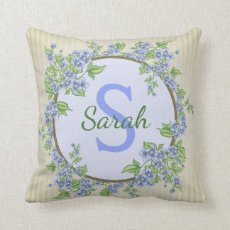 Monogram Flower Pillow with Quote