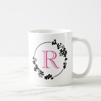Monogram Flowers Frame Coffee Mug