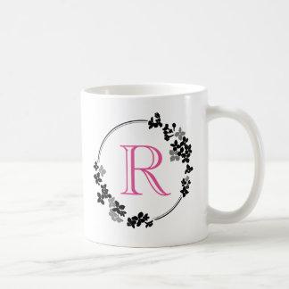 Monogram Flowers Frame Coffee Mug