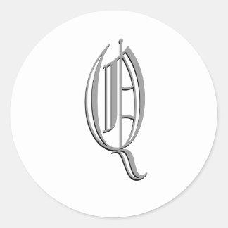 """Monogram Formal Sticker """"Q"""""""