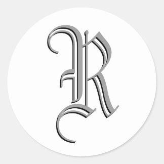 "Monogram Formal Sticker ""R"""