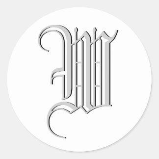 "Monogram Formal Sticker ""W"""