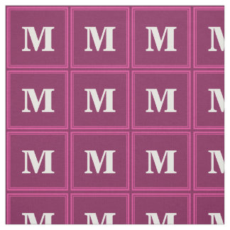 Monogram fuchsia fabric