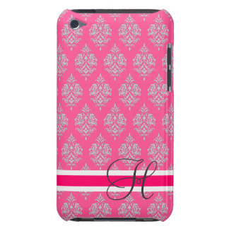 Monogram,Fuchsia,Grey, Damask,iPod Touch Case Case-Mate iPod Touch Case