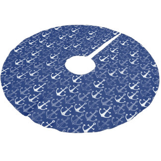 Monogram Fun Anchor Pattern Brushed Polyester Tree Skirt