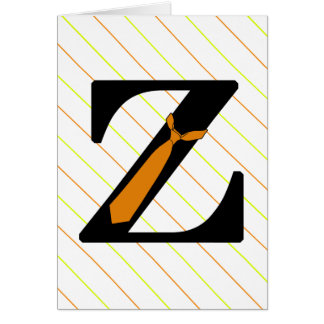 Monogram Fun Formal Z with Tie Card