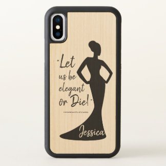 Monogram. Funny. Girly. Little Women Quote iPhone X Case
