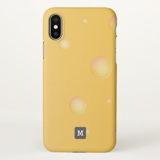 Monogram. Funny. Yellow Cheddar Cheese. iPhone X Case
