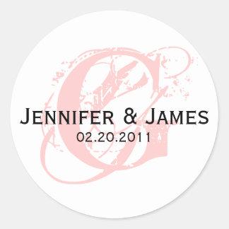 Monogram G Save the Date Wedding Sticker