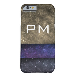 Monogram Galaxy initials Barely There iPhone 6 Case
