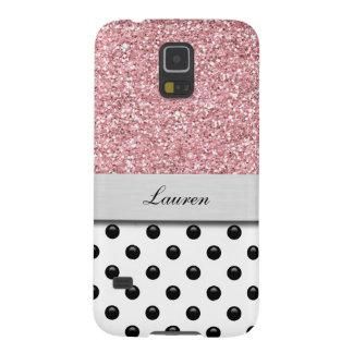 Monogram Galaxy S5 Glitter Case