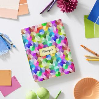 Monogram Geometric Rainbow Colors iPad Smart Cover iPad Cover