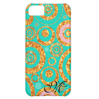 Monogram Girly Glitter Pattern / House-of-Grosch Cover For iPhone 5C