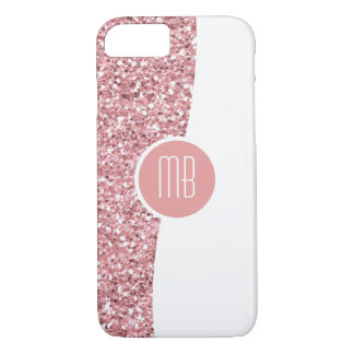 Monogram Glitter Bling iPhone 8/7 Case