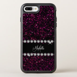 Monogram Glitz And Glam Bling OtterBox Symmetry iPhone 8 Plus/7 Plus Case