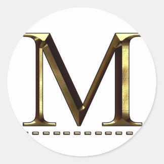 Monogram gold letter M Your Sticker
