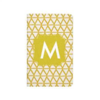 Monogram gold notebook personalized with name journal