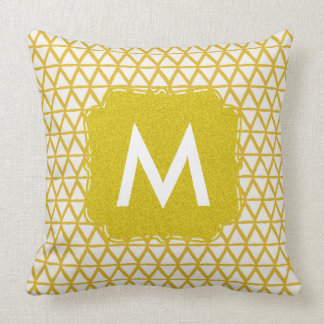 Monogram gold pillow personalized with name