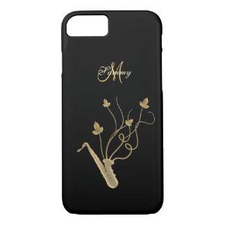 Monogram Gold Saxophone iPhone 7 Case