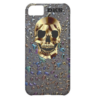 Monogram Gold Skull on Oily LOOK iPhone 5C Case