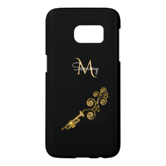 Monogram Gold Trumpet Samsung Galaxy S7 Case