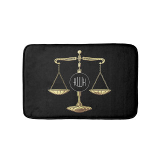 Monogram | Golden Scales of Justice Bath Mat