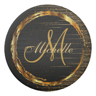 Monogram Golden shotting Stars Design Eraser