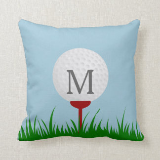 Monogram Golf Throw Pillow