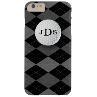 Monogram Gray Argyle, Golf Ball iPhone 6 Plus Case