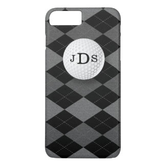 Monogram Gray Argyle, Golf Ball iPhone 7 Case