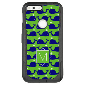 Monogram | Green & Blue Whales OtterBox Commuter Google Pixel XL Case