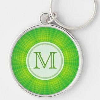 Monogram: Green Burst Keychain