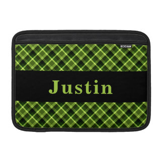 Monogram Green Diagonal Plaid MacBook Air Sleeve