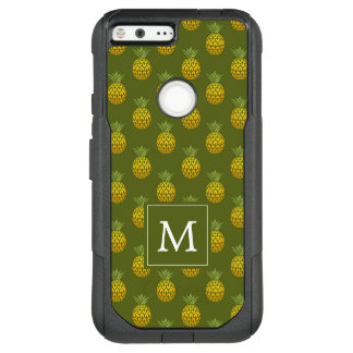 Monogram | Green & Gold Pineapples OtterBox Commuter Google Pixel XL Case