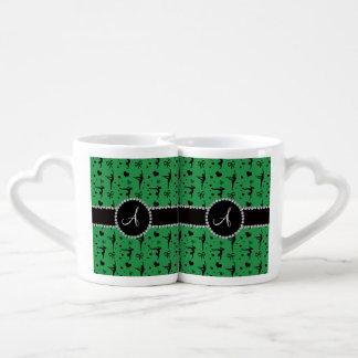 Monogram green gymnastics hearts bows lovers mug