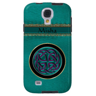 Monogram Green Leather with Celtic Knot