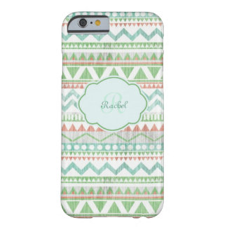Monogram Greens Barely There iPhone 6 Case