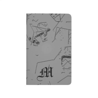 Monogram Grey Abstract Pattern Journal