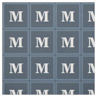 Monogram grey-blue stripes fabric