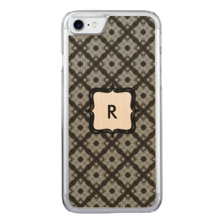 Monogram Grey Crisscross Carved iPhone 7 Case