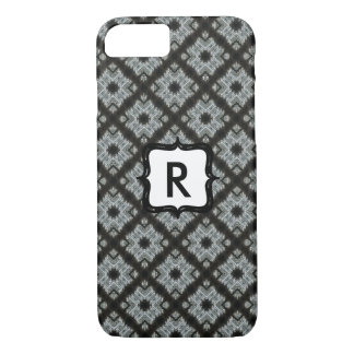 Monogram Grey Crisscross iPhone 7 Case