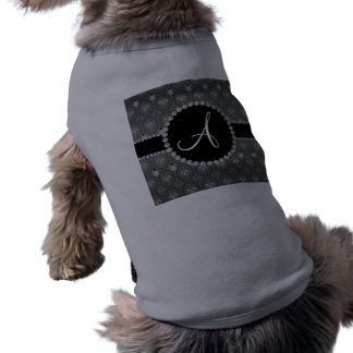 Monogram grey snowman trellis shirt
