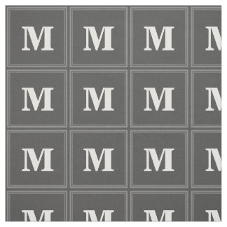 Monogram grey stripes fabric