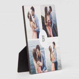 Monogram Grid Collage Photo Photo Plaques