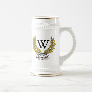 Monogram Groomsman-Best Man Beer Stein