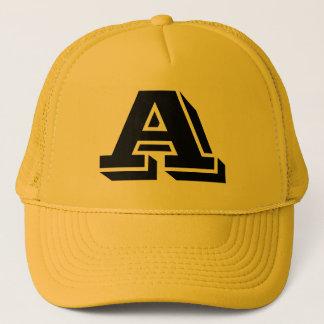 Monogram hat letter A