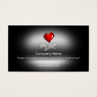 Monogram, Healthy Heart Fitness, metallic-effect Business Card
