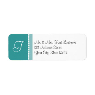 Monogram Hearts with changable color Return Address Label